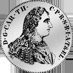 Silber Pfälzer Kronen Taler Münze 1753
