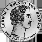 Konvent Spezies Taler Silber Münze 1835