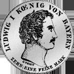 Spezies Taler Konvent Münze Silber 1835