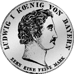 Konvent Spezies Taler 1833 Münze Silber