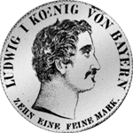 Konvent Spezies Taler Silber Münze 1833