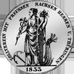 1833 Konvent Silber Spezies Taler Münze Rückseite