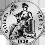 Münze Rückseite Silber Spezies Taler Konvent 1830