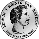 Silber Münze Spezies Taler Konvent 1829