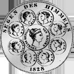 1828 Münze Silber Konvent Spezies Taler Rückseite