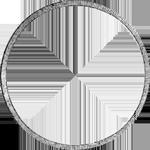 Silber Münze Umrandung Konvent Spezies Taler 1828
