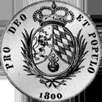 Silber Münze Rückseite Spezies Taler Konvent 1800