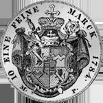 Silber Münze Konvent Spezies Taler Rückseite 1784