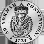 1775 Silber Spezies Taler Konvent Rückseite Münze