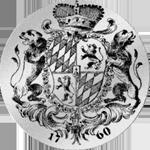 Taler Silber Spezies Münze Konvent 1760 Rückseite