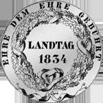 Konvent Rückseite Spezies Taler Silber Münze 1834