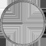 Umrandung Konvent Spezies Taler Silber Münze 1834