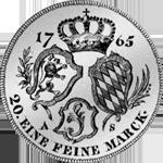 1765 Münze Silber Gulden Stück Rückseite