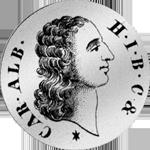 1/2 Gulden Stück Silber Münze 1730