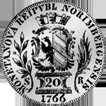 6 Batzen 20 Kronen Stück Silber Münze 1766