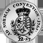 1765 Kronen bayrische 12 Batzen 3 Rückseite Münze Silber