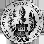 3 Batzen 10 Kronen Stücke Silber Münze 1763