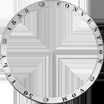 1845 Taler Stück Silber Münze Vereins 2 Umschrift
