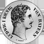 2 Taler Stück Vereins Taler 1844 Silber Münze