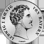 2 Taler Stück Vereins Silber Münze 1839