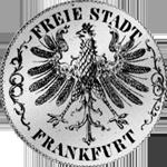 Silber Münze Gulden Stück 1844