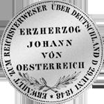 Münze Silber Rückseite Gulden Stück 2 1848