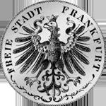 Rückseite Gulden Stück Silber Münze 1846
