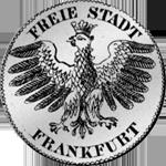 1/2 Silber Münze Gulden Stück 1838 Rückseite