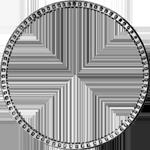 Silber Münze Umrandung 1/2 Gulden Stück 1838