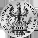 1763 Silber Münze Kronen Stück 20 Batzen 6 Rückseite