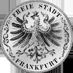 1847 Taler Stück 2 Vereins Taler Silber Münze Rückseite