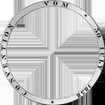 Umrandung Silber Münze Vereins Taler 2 Taler Stück 1847