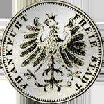 Silber Rückeite Münze Kreuzer Stück 6 1849