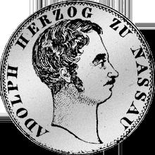 1842 Silber Münze Rückseite Gulden Stück 1842
