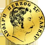 1/2 Gulden Stück Münze Silber 1842