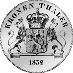 Rückseite Kronen Taler Silber Münze 1832