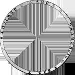 Umrandung Silber Münze Kronen Taler 1832