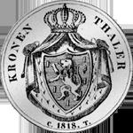 1818 Taler Krone Silber Münze Rückseite