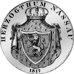 1817 Taler Silber Kronen Münze Rückseite