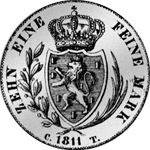 Rückseite Münze Silber Taler Spezies Konvent 1811