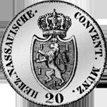6 Batzen 20 Kronen Stück Münze Silber 1809