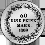 20 Kronen Stück 6 Batzen Silber Münze 1809