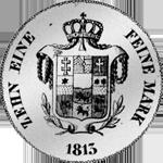 1813 Spezies Taler Konv Silber Münze Rückseite