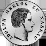 Vereins Taler 2 Taler Stück 1844 Silber Münze