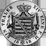 Kurant Taler Silber Münze Rückseite 1848