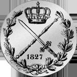 1827 Taler Kronen Silber Münze