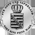 Konv Spezies Taler Silber Münze 1817 Rückseite