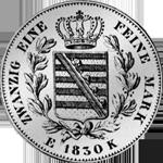 Münze Silber Gulden Stück 1830