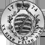 1774 Stück Rückseite Gulden Silber Münze