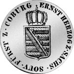 1820 Kronen Stück 20 Kopf Silber Münze